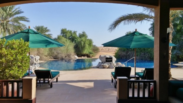 al maha desert resort dubai main pool
