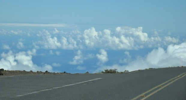 haleakala creater clouds no guard rails