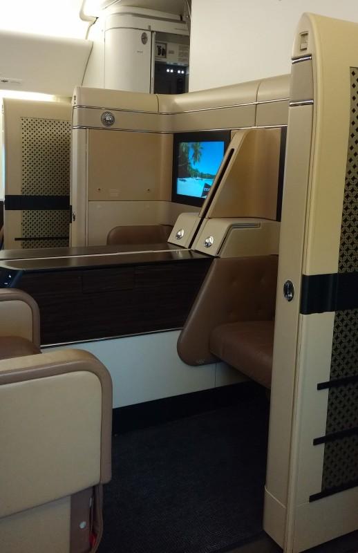 Etihad First LAX AUH cabin