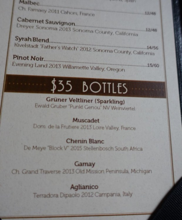 Jack Rose DC wines by the glass