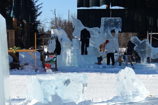 Fairbanks Ice Park Ice Scuplture Championships Multi Block Sculpture