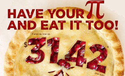 frontier airlines pi day discounts