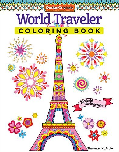 World Traveler Coloring Book 30 World Heritage Sites Adult Coloring Books