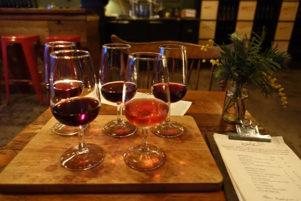 Enso Winery Review Portland Wineries wine tasting flight