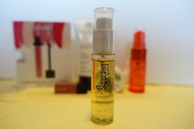 May Birchbox Review Supergoop Sunscreen Oil