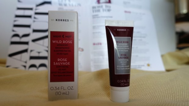 May Play by Sephora beauty box korres wild rose facial