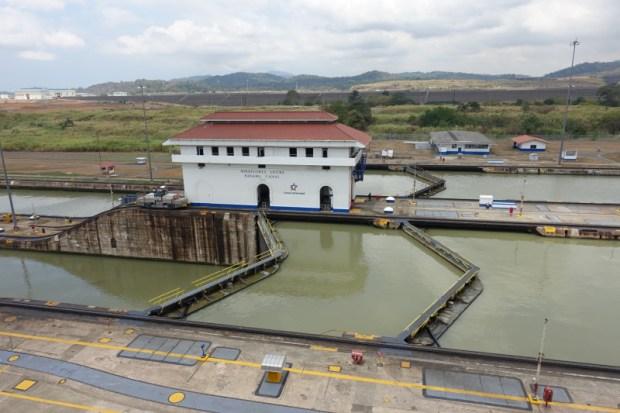 Miraflores Locks Panama Canal gates