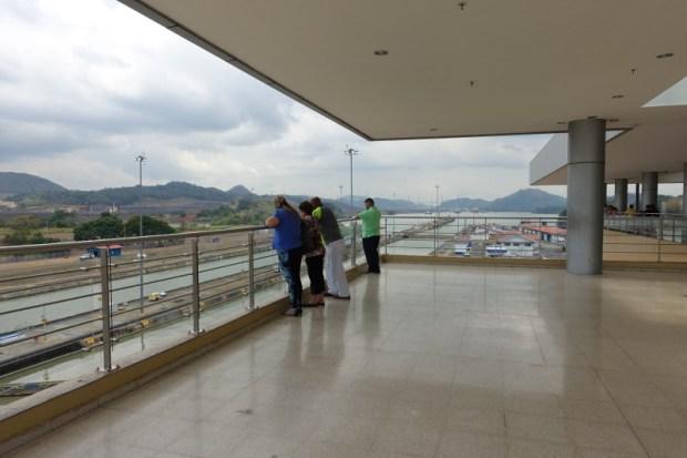 Miraflores Locks Panama Canal top floor viewing