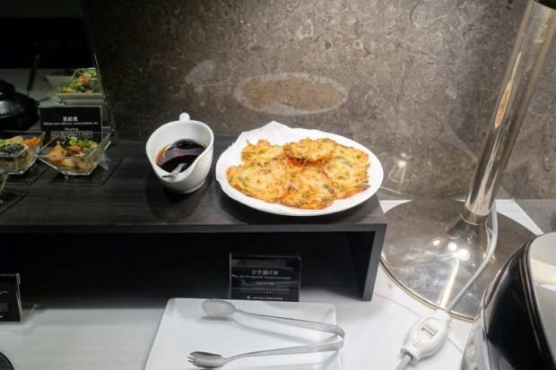 JAL First Class Sakura Lounge Narita Satellite tempura rice
