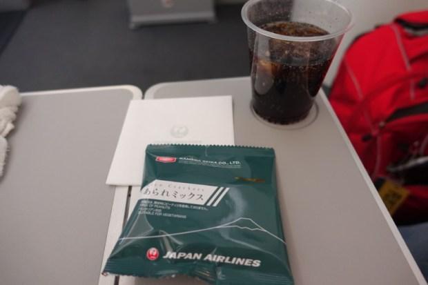 JAL economy 787 NRT BKK snacks