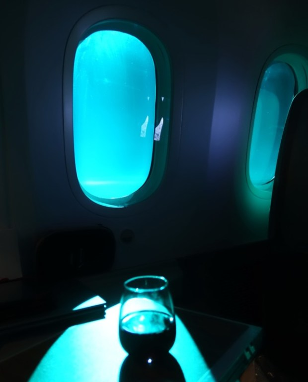 american airlines business class 787 ord-nrt window lighting