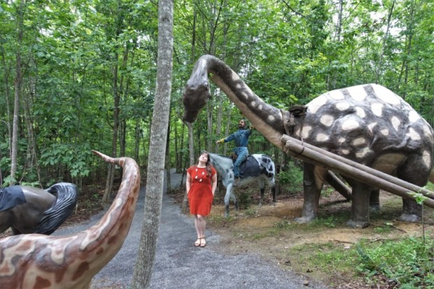 Dinosaur Kingdom II Natural Bridge VA brontosaurus beast of burden