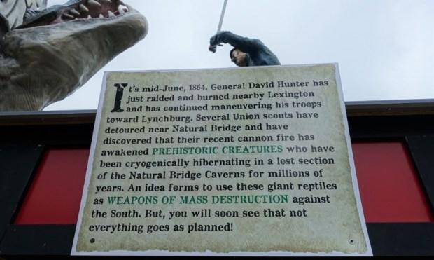 Dinosaur Kingdom II Natural Bridge VA explanation