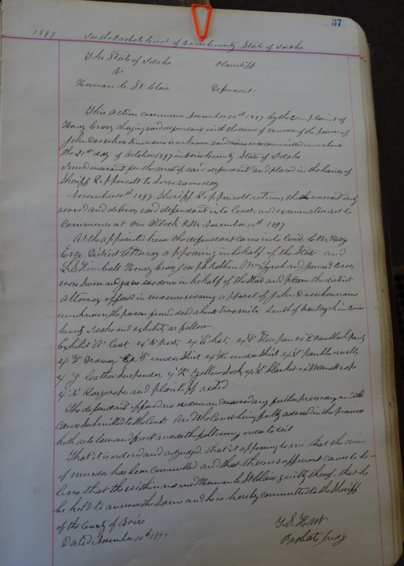 Idaho City Boise County Courthouse Harman St Clair case notes