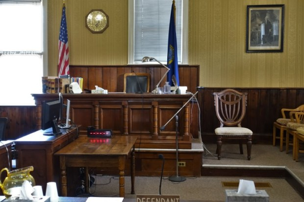 Idaho City Boise County Offices witness stand