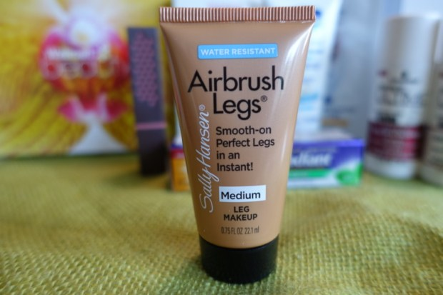 Summer Walmart Beauty Box Review sally hansen airbrush leg