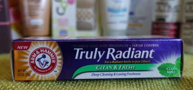 Summer Walmart Beauty Box Review totally radiant toothpaste