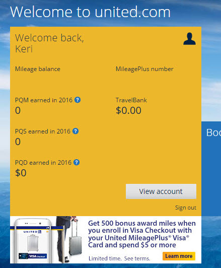 United visa checkout 500 bonus offer