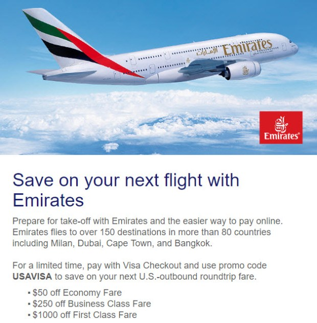 Emirates Visa Checkout Offer