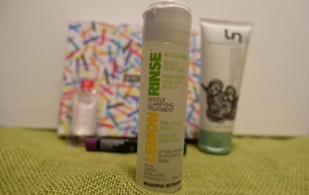 Birchbox September 2016 Beautiful Nutrition Lemon Rinse