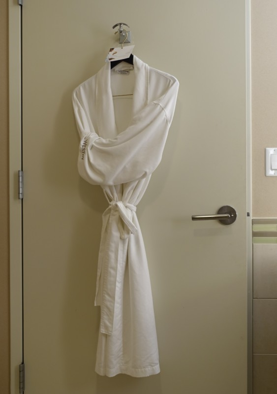 Westin Dulles bathrobe