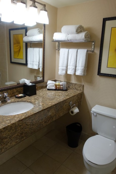 Sheraton Atlanta Airport Club Room bathroom