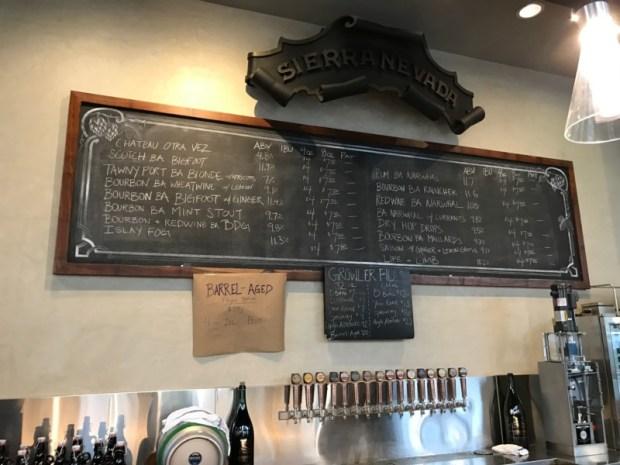 SF Beer Week Sierra Nevada Torpedo Room Barrel Aged Menu