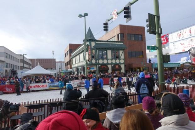 2016 Iditarod Race downtown Anchorage