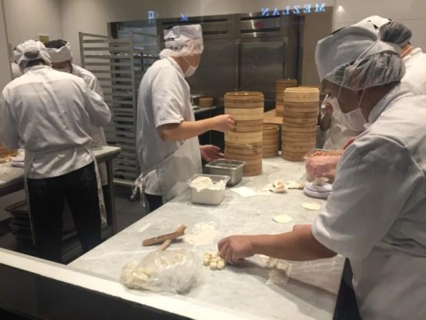 Din Tai Fung San Jose dumpling making