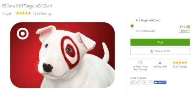 groupon target gift card deal
