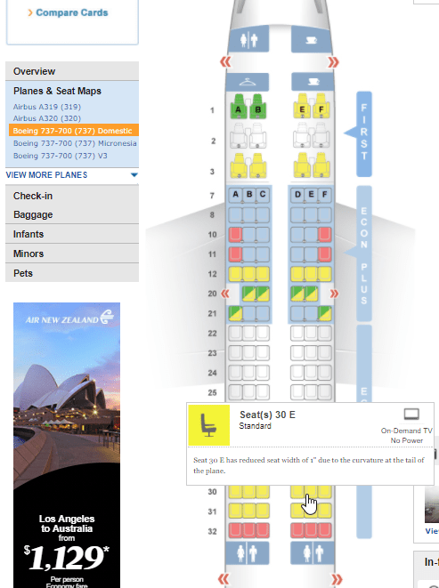 SeatGuru shows the best seats on the plane