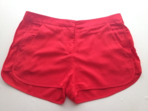 4) Zara Red Embroidered Shorts £15.99