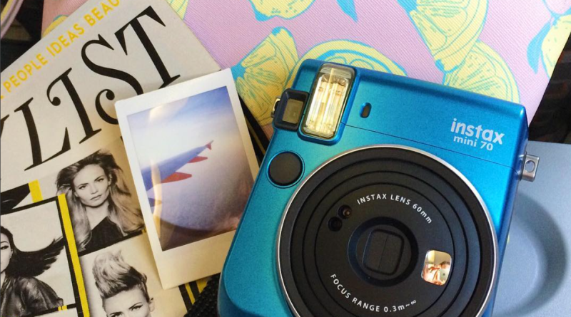 Instax Mini 70 on the plane to Amsterdam