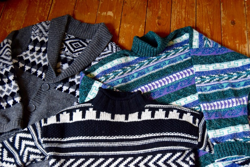 Knitted jumpers for Iceland