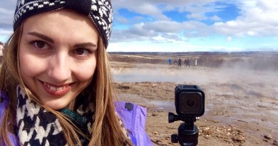 GoPro at Geysir, Iceland