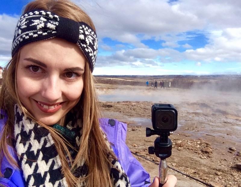 GoPro at Geysir, Iceland