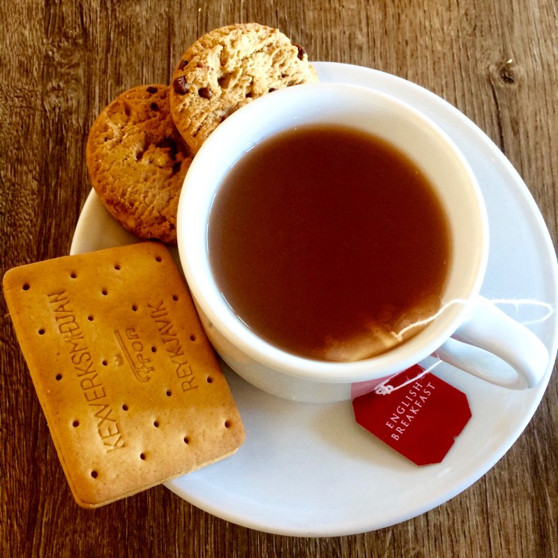 Tea and biscuits on the Reykjavik Excursions tour