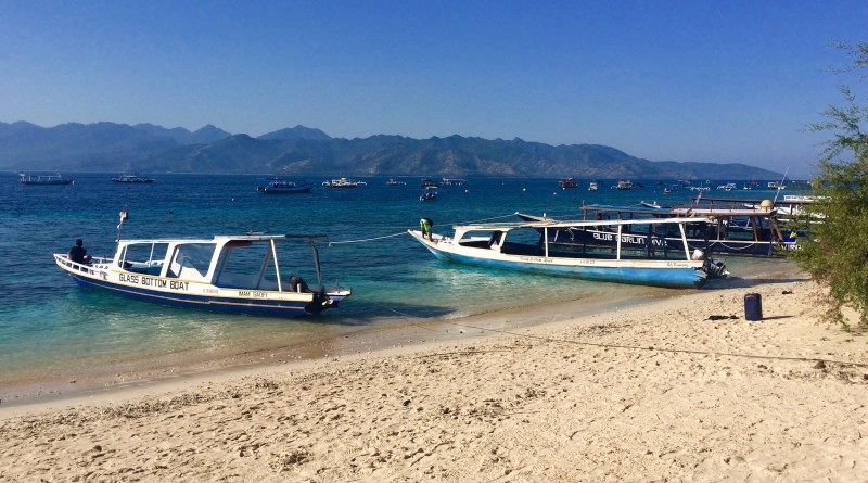 Boat ride to the Gili Islands