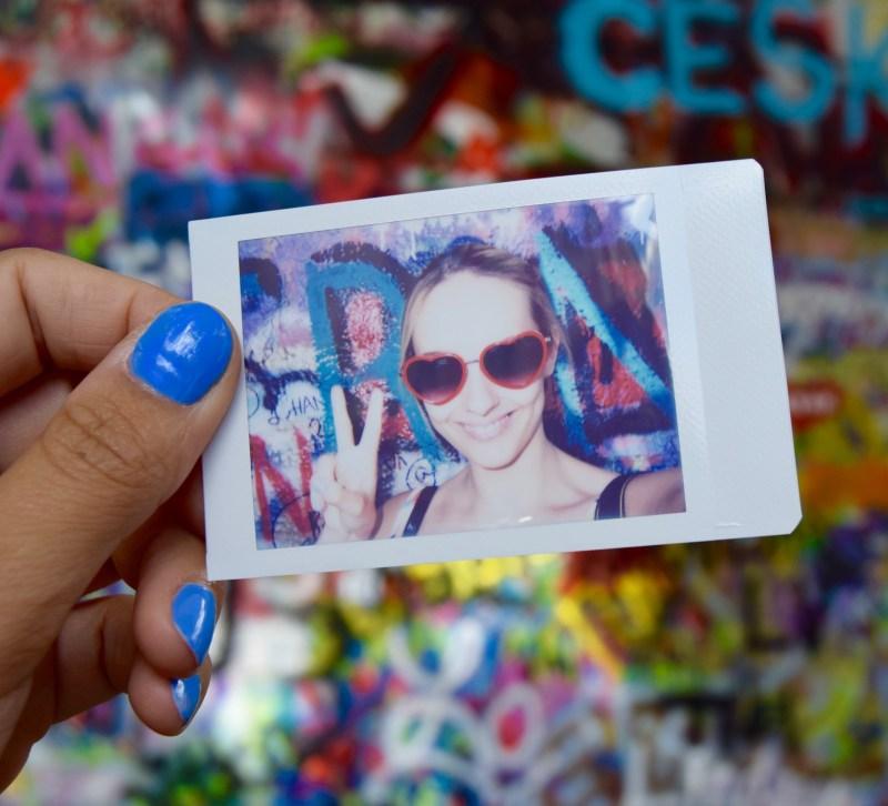 Instax at John Lennon wall, Prague
