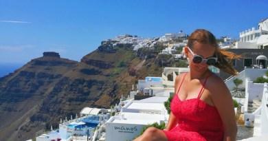 Superdry red dress - Santorini