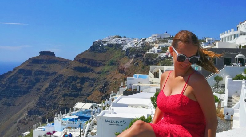 Superdry red dress - Santorini