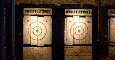 Axe Throwing at Whistle Punks, MCR