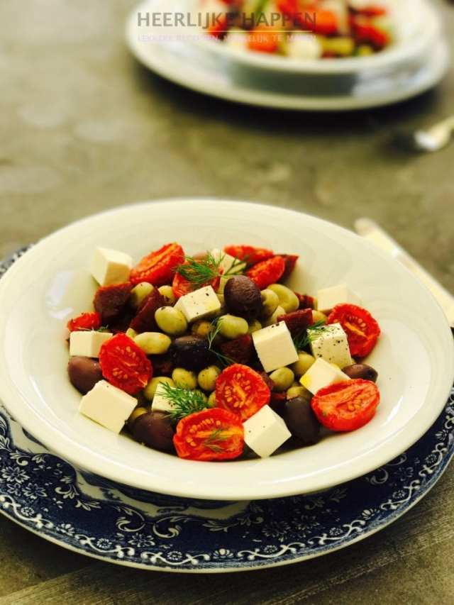 Tuinboon salade met dille