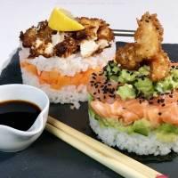 Crispy sushi torentjes