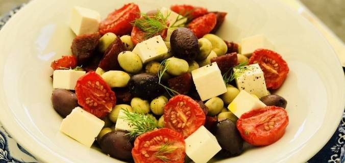 tuinboon salade met verse dille