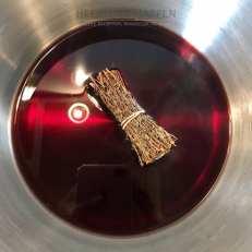Eendenborst met kersen cognacsaus