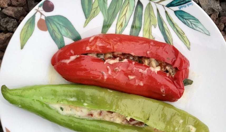 Mediterraans gevulde paprika