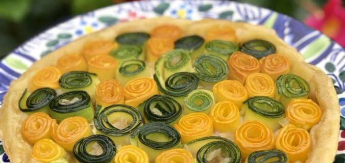 Courgette tatin met brie