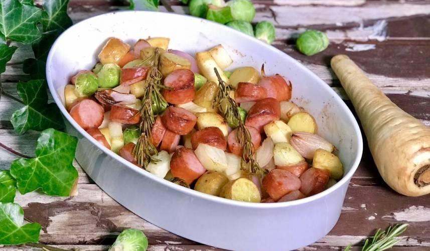 Ovenschotel met vergeten groente