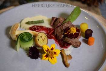 Reeën biefstuk met bloemkoolpuree